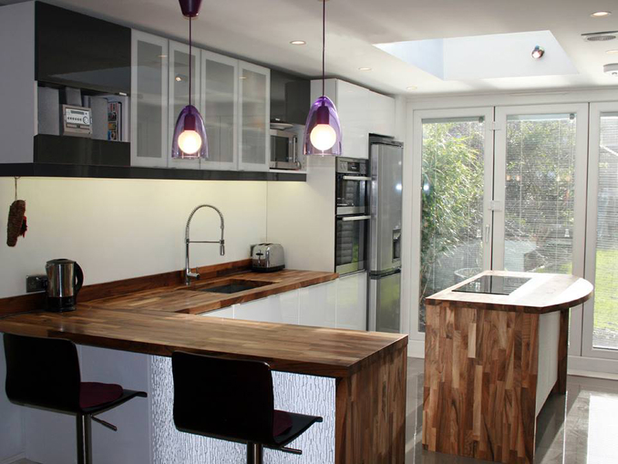 Attractive Creating A Kitchen Breakfast Bar Using Solid Wood Countertops | Worktop  Express Information Guides Awesome Design