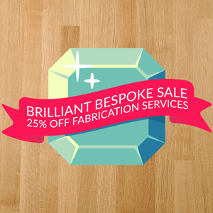 Order Bespoke Solid Wood Worktops for 25% Less!