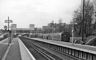 Bromley train station in 1961 wooden worktops.