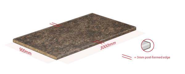Brown Granite Work Surface Dimensions