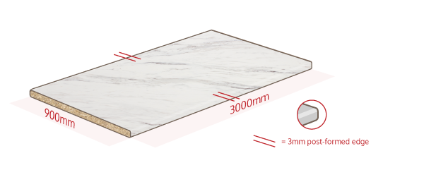 Marble Laminate Work Surface Dimensions