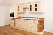 Camden Worktop Showroom, London Gospel Oak Kitchen painted in Farrows Cream
