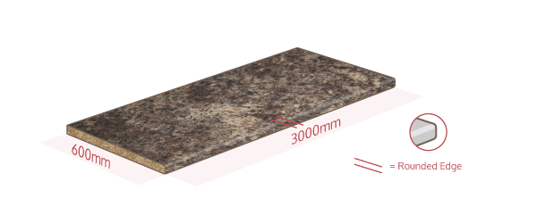 Caribbean Stone Work Surface Dimensions