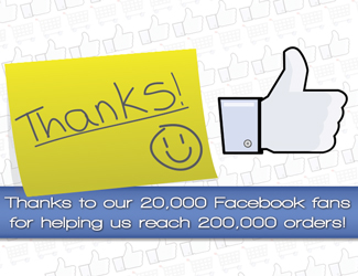 Celebrating 20,000 Facebook Likes and 200,000 Orders of Solid Wooden Work Surfaces