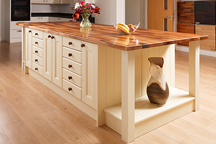 Deluxe Walnut Kitchen Island - Chesterfield Worktop Showroom