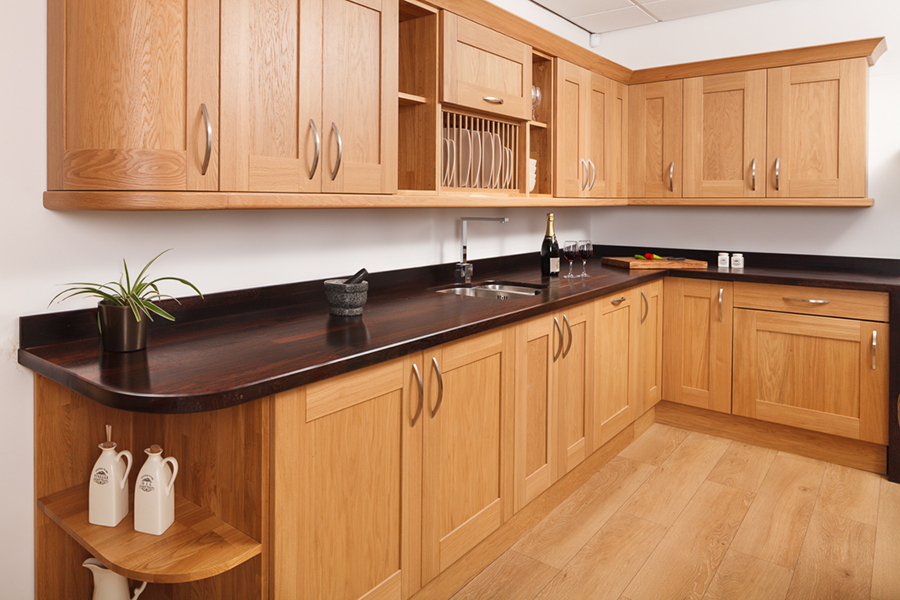 Dark Cherry Wood Kitchen