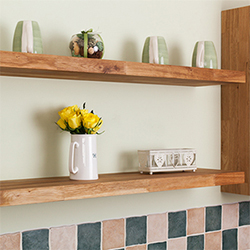 Consider Floating Shelves for slimline storage