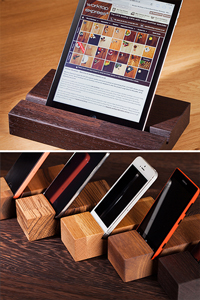Solid Wood Tablet / Mobile Phone Stands