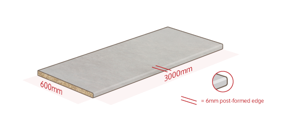 Concrete Laminate Work Surface Dimensions