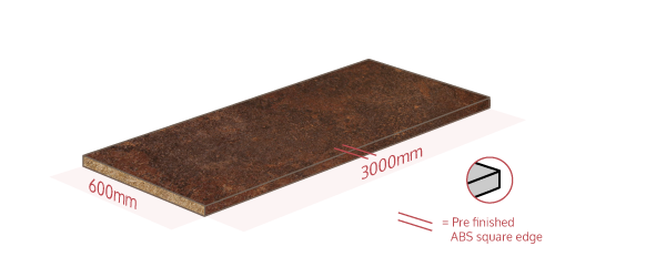 Copper Effect Work Surface Dimensions