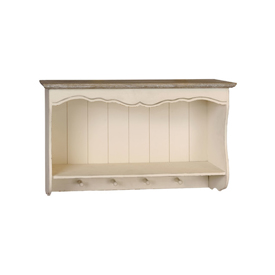 Nothing says 'country kitchen' like this cream shelf and coat rack unit!