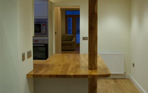 Consider our oak worktops in a modern kitchen with traditional features.