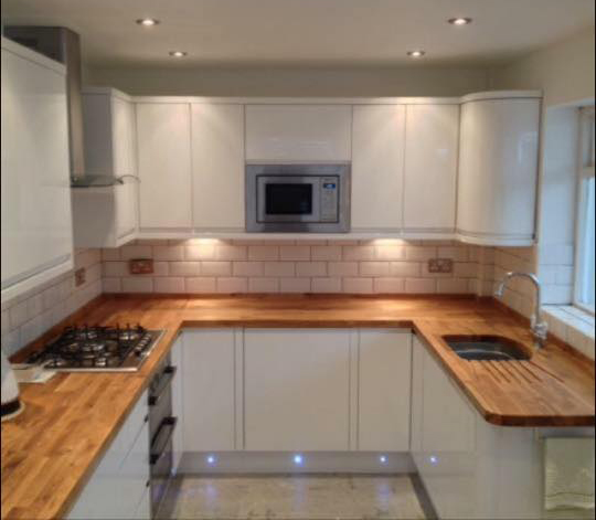 White Kitchen Units With Oak Worktop: Customer Kitchen Wooden Worktop Gallery Page 2