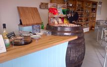 Beech worktops complement the country feel in this Isle of White farm shop.