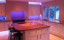 Two Prime oak worktops were combined for this huge kitchen island.