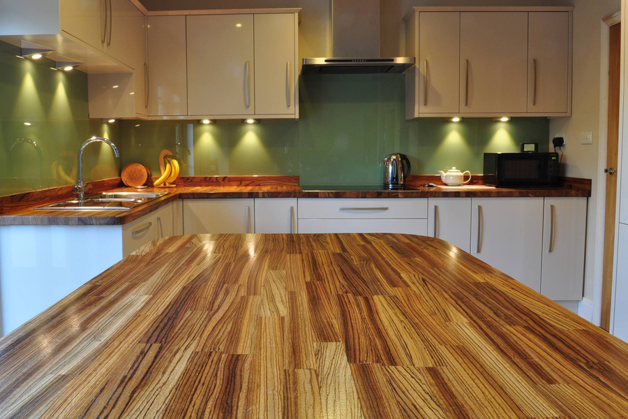 Kitchen Island Worktops | Zebrano Worktop Gallery