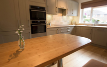 Caramel bamboo not only makes a fantastic worktop, but also a great bench.