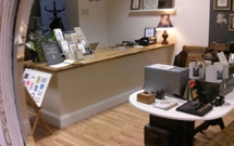 Our oak worktop used to great effect as a shop counter.