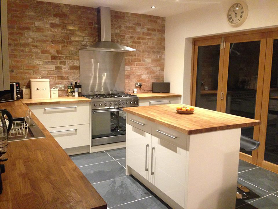 Customer Kitchen Wooden Worktop Gallery Worktop Express