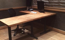 Our oak worktops are also the perfect surface for a spacious, hard-wearing office desk.