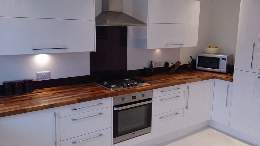 white gloss kitchen with walnut worktop customer kitchen wooden worktop gallery page 2 worktop 431