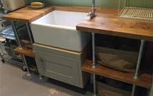 Oak is hard-wearing and easy to work with - the perfect choice for a DIY kitchen.