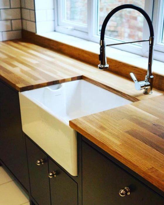 Kitchen Worktops And Sinks: Customer Kitchen Wooden Worktop Gallery