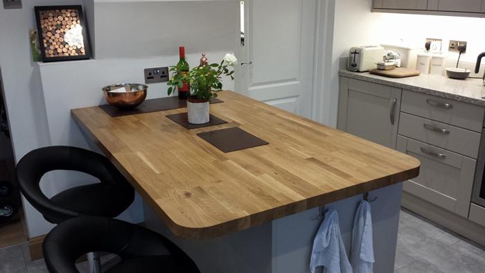 Breakfast Bar Worktop >> Customer Kitchen Wooden Worktop Gallery - Worktop Express