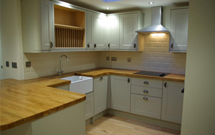 Our oak worktops are a fitting choice for accompanying classic features such as a Belfast sink.