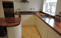 Once oiled, walnut looks rich and inviting - an ideal surface for contemporary kitchens.