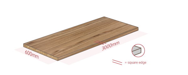 Cypress Cinnamon Work Surface Dimensions