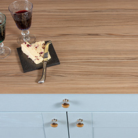 These Cypress Cinnamon laminate worktops replicate the look of real zebrano hardwood and have a chunky square edge profile.