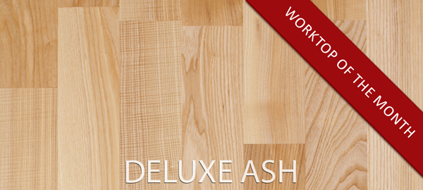 Deluxe ash February's solid wood kitchen worktops of the month.