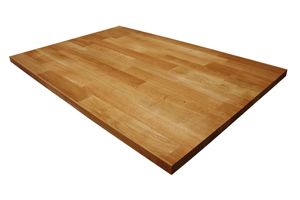Our oak worktops are available in widths of up to 1240mm - perfect for kitchen islands.