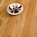 Deluxe Oak worktops with 90mm wide staves