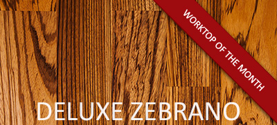 Deluxe Zebrano: April's Solid Wood Worktop of the Month