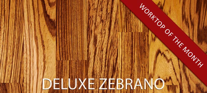 Deluxe Zebrano Worktops - Our Worktop of the month