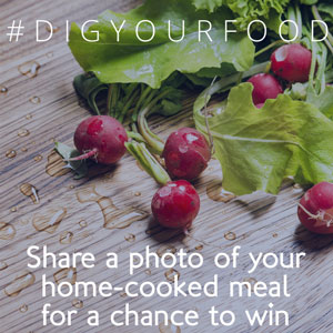 Post a picture of your home-cooked meal on Facebook or Instagram to win!