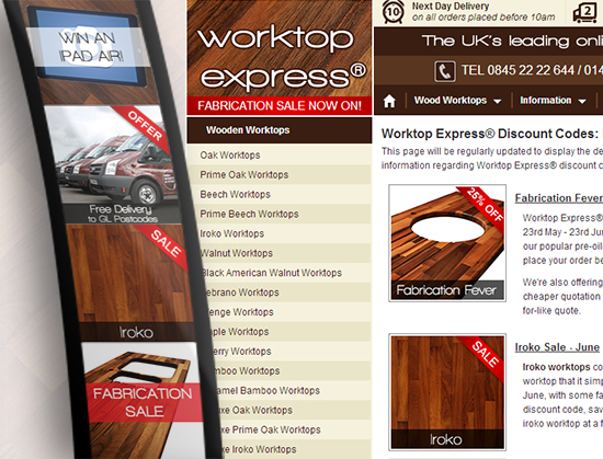 Where to find Worktop Express® Discount Codes