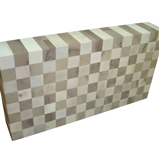 Maple and Walnut End Grain Butcher Block - Unoiled