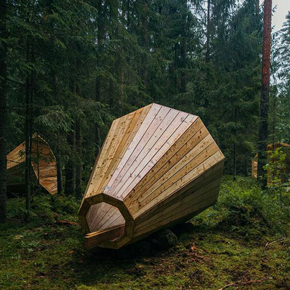 Calling Out to all Solid Wooden Worktops: Students Create Giant Wooden Megaphone to listen to the Forest
