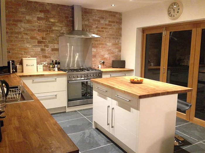 creating bespoke hardwood worktops for kitchen islands