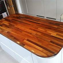 Fabricating Hardwood Worktops for Kitchen Islands