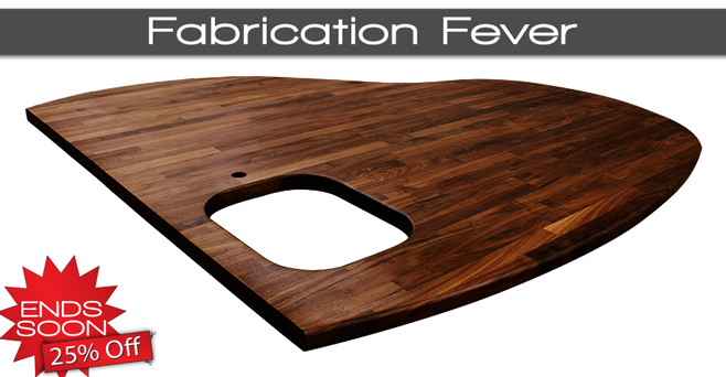 Solid Work Surfaces Sale: Last Chance to Save 25% off Fabrication!