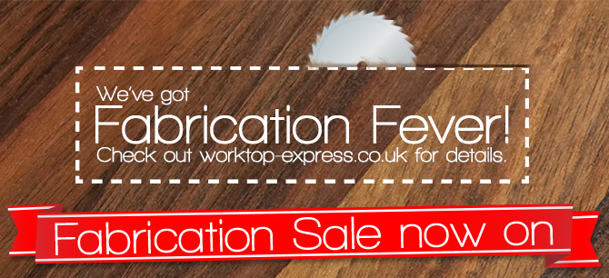 Customise Wood Kitchen Worktop Surfaces with Our 'Fabrication Fever' Sale: 25% Off!