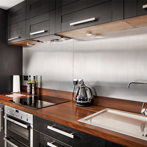Upstands and splashbacks are an excellent complement to solid wooden worktops.