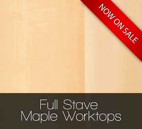 Save 10% on Full Stave Maple Solid Wood Worktops