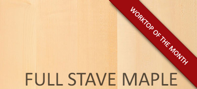 Worktop of the Month: Full Stave Maple Solid Wood Counters