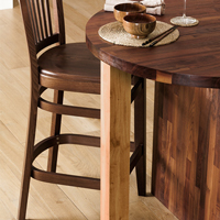 This pre-oiled oak breakfast bar leg is made from 4 full staves of European oak.