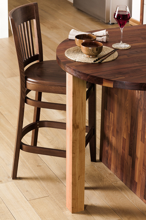 Charming This Pre Oiled Oak Breakfast Bar Leg Is Made From 4 Full Staves Of European Awesome Ideas